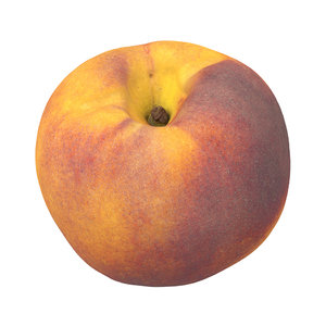 photorealistic scanned peach 3D model