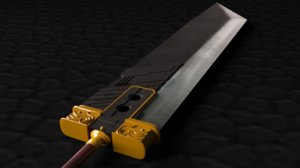 buster sword cloud - 3D