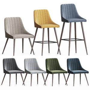 3D amos chair set