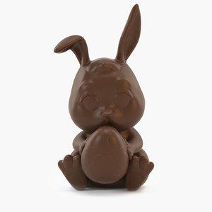 milk chocolate bunny 3D model