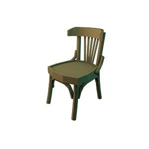 egyptian chair cafes 3D