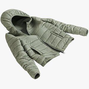 3D realistic women s jacket model