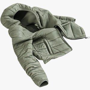realistic women s jacket 3D model