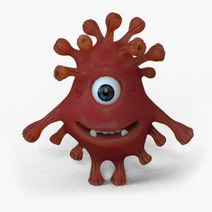 3D virus creature