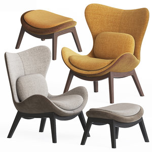 calligaris lazy armchair pouf model