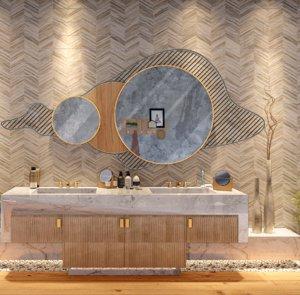 modern mirror design interior 3D model