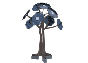 3D future energy solar trees model