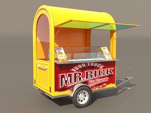 fast food cart 3D