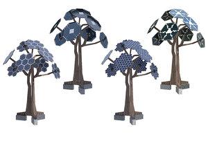 solar tree energy 3D model