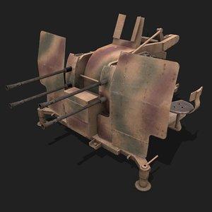 3D anti-aircraft flak 38 flakvierling