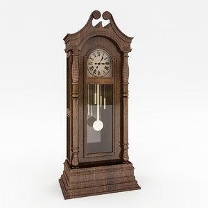 retro clock 3D model