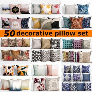 3D 50 decorative set pillow