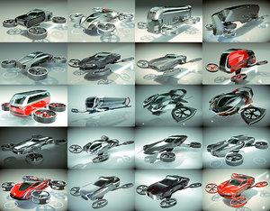 20 1 cool hover car 3D