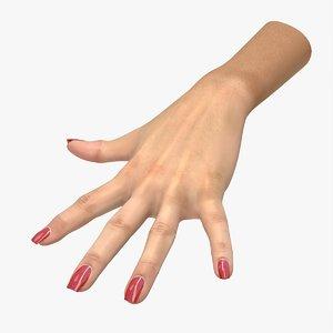 3D modeled hand model