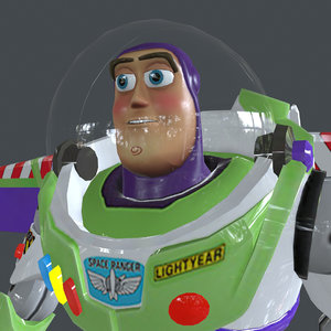 rigged buzz walking place 3D model