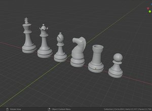 classical chess pieces model