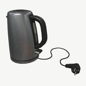 3D low-poly teapot model