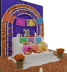 day dead altar 3D