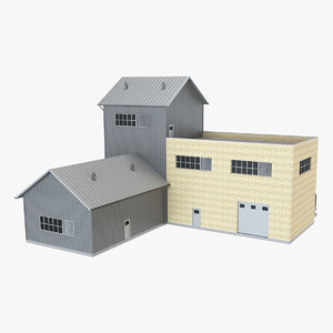 3D industrial building 22