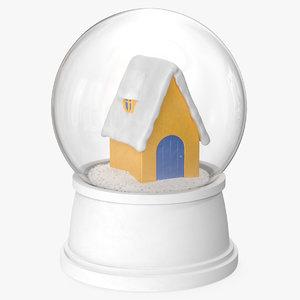 3D snow globe house 3