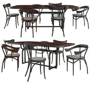 bistrotstuhl cafestuhl chairs caryllon 3D model