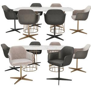 3D model marelli chia chairs tatlin