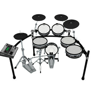 drums kit electronic 3D model