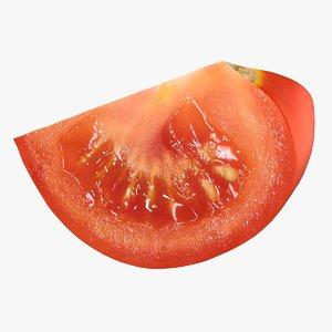 realistic tomato slice 3D