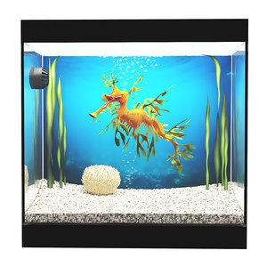 3D aquarium leafy sea dragon model
