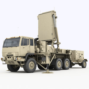 tpq-53 radar general counterfire 3D model