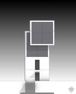 tadao ando 4x4 house 3D model