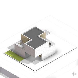 3D bitten house model