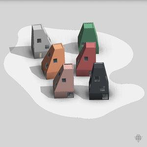 vertical village 3D model