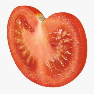 3D realistic tomato slice 02