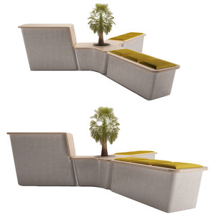 3D seating bench