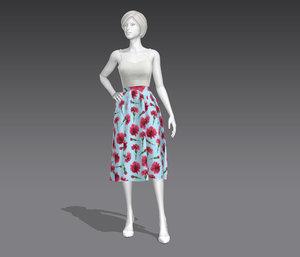 prom dress 3D model