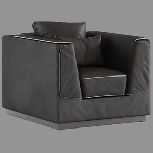 flou gentelman armchair 3D model