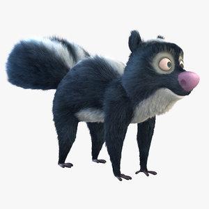 3D fantasy skunk