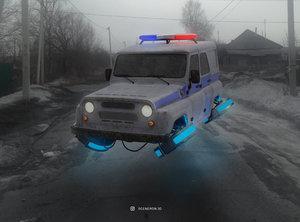 cyberpunk police russian model