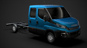 3D iveco daily crew cab