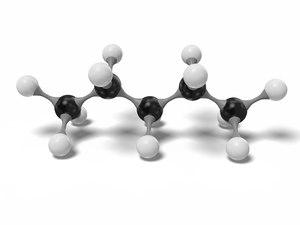 pentane molecule c5h12 modeled model
