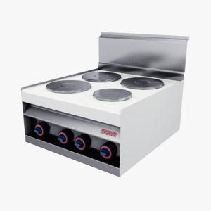3D model cooker oven appliance