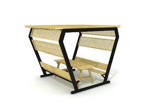 outdoor picnic table 3D model