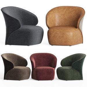 fauteuil cuir 3D model