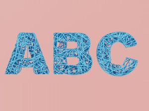 unique alphabet letters model