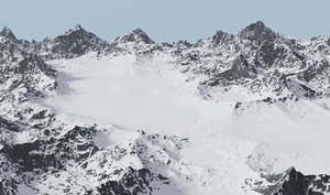 valley snowy mountains 3D model