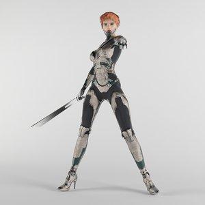 3D cyberpunk fi pbr