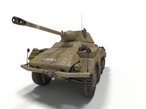 3D sd kfz 234 puma model