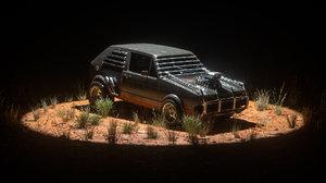 post apocalyptic car 3D