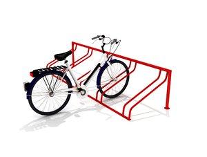 3D model bicycle park